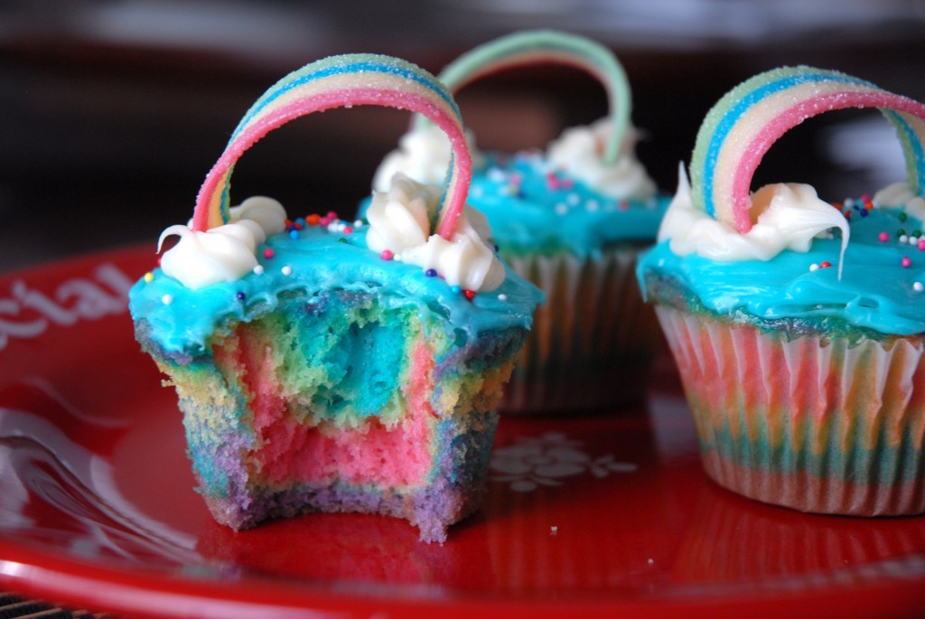 double rainbow cupcake recipe