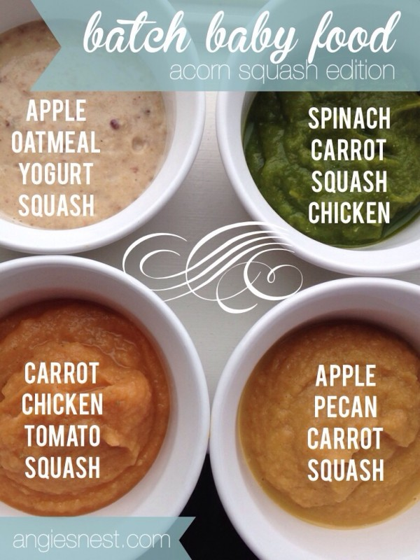 Batch baby food recipe with acorn squash angies nest i forumfinder Images