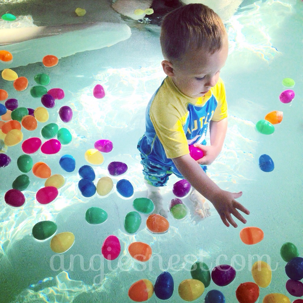 easter egg hunt in water