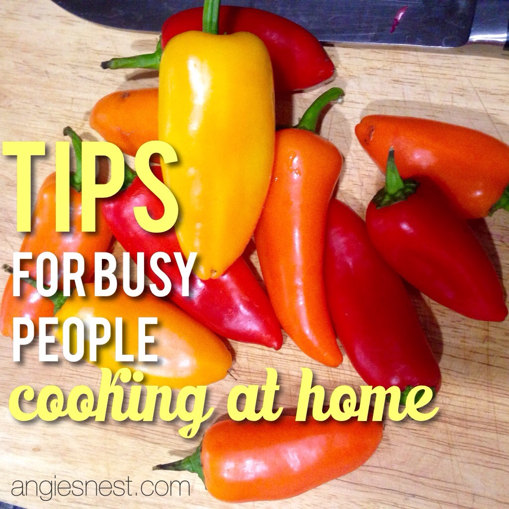 tips for busy people cooking at home